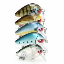 5pcs Mini Crankbait Fishing Lures Topwater Swimbait Wobblers Artificial Bait