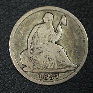 1837 No Stars Seated Liberty Silver Half Dime
