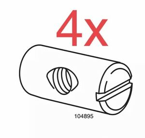 IKEA 4x Cross Dowel Nut Sleeve Part # 104895 FREE FAST SHIPPING