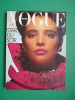Vogue Paris November 1985 November Kim Adams Mariel Hemingway Lori Singer Rare