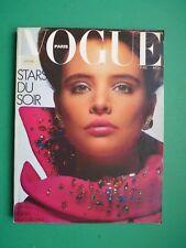 VOGUE PARIS Novembre 1985 November Kim Adams Mariel Hemingway Lori Singer RARE!