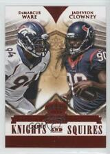 2014 Crown Royale Knights and Squires Red DeMarcus Ware Jadeveon Clowney Rookie