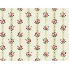 York Wallcoverings Roses PN0489 Rose Stripe Wallpaper, Grey / Pink FREE SHIPPING