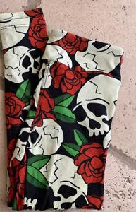 Lularoe Halloween Sugar Skulls S/M Kids Roses