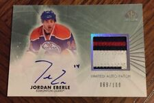 Jordan EBERLE Signed 2011 UD SP Authentic Auto GAME USED PATCH Jersey # 69/100
