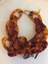 NWOT Faux Medium Tortoise Double Link Chain Necklace