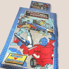 More details for vintage 80s transformers duvet cover pillow case retro 1980s single size