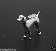 3D WEIMARAMER  Dog Charm Pendant Real 925 Sterling Silver Great Details