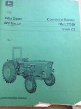 New listing John Deere 820 tractor technical manual and operators manual