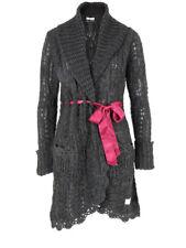 Odd Molly 883 Grey Charcoal Plain Back Jumble Knit Coat Cardigan size 1