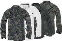 Brandit Herren Militär Hemd Camou Langarm Tarn  Shirts S L XL 2XL 3XL 4 5XL- 7XL