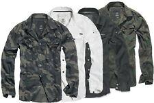 Brandit Camisa de Hombre Militar Camuflaje Camisetas Largo 4-05 Tarn S L XL 2XL