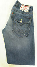 Men's True Religion Jeans 32 x 33 (tag 30) Nathan Straight Leg in Blue RRP £180