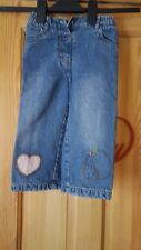 girls jeans with love heart and circles on legs size 2 years
