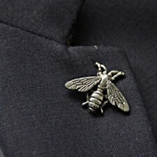 Silver Bee Pin ~ Animal Bee Brooch Honeybee Badge Backpack Lapel Pin