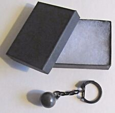 F) KEY-RING SOLID METAL CANNON BALL CIVIL WAR AMMUNITION ROUND SHOT CANNONBALL