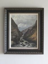 Masterpiece Landscape painting by HOWARD A. STREIGHT 19th cent. signed ORIGINAL!