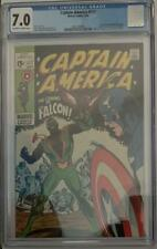 (1969) CAPTAIN AMERICA #117! CGC 7.0! 1st appearance THE FALCON! OW/WP!