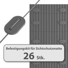 HOMELUX Befestigungskit für Sichtschutzmatte Windschutz Balkon Zaun FARBWAHL