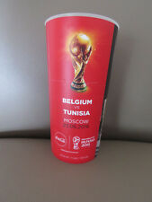 Gobelet du match Beer Cup 2018 FIFA World Cup Belgium Tunisia Diables Rouges