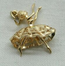 Very Pretty 9ct Gold Ballerina Charm With Articulated Legs