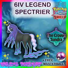POKEMON SWORD and SHIELD / Crown Tundra DLC / 6IV ✨LEGEND✨ SPECTRIER +MasterBall