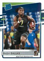 DeeJay Dallas RC 2020 Donruss Football Rated Rookie Card #345 Seattle Seahawks