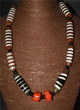 tibetan dzi bead old 5 6 necklace striped eye red coral bracelet agate ancient Q