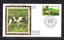 MONACO   enveloppe 1er jour    expo canine chien  setter  pointer      1979