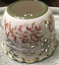 Home Interiors Ceramic Large Jar Candle Shade Topper Floral