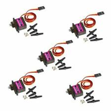 Keywish 5Pcs MG90S Mini Metal Geared Micro Servo Motor 9G for RC Helicopter Plan