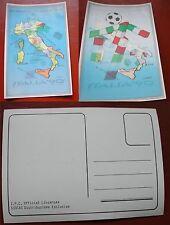 CARTOLINA ITALIA '90 FIFA WORLD CUP - CALCIO - COPPA DEL MONDO 1990 3D