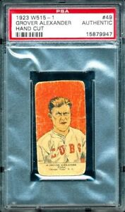 **GROVER CLEVELAND ALEXANDER** 1923 W515-2 Chicago Cubs #49 PSA Authentic