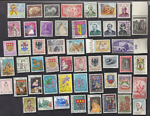 50 All Different LUXEMBOURG SEMI-POSTAL Stamps