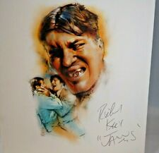 JAWS Signed Richard Kiel Autograph on Jeff Marshall 11x14 Print 007 James Bond