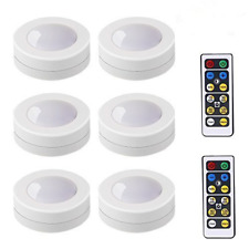 Under Cabinet Lighting Kit LED Light Puck Bulb Kitchen Shelf Counter Battery