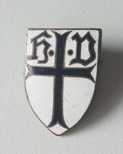 H.D. Johanniter- /Malteserkreuz  Deutscher Orden Brosche emailliert um 1910