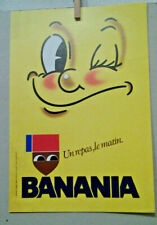 AFFICHE ANCIENNE UN REPAS LE MATIN BANANIA   CHOCOLAT CACAO