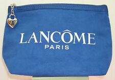 neu lancome blau faux wildleder make-up cosmetic bag purse case
