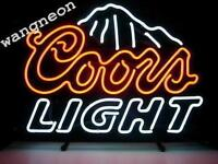 New COORS LIGHT NEON SIGN Beer Bar Pub Store Display Light FAST FREE SHIPPING