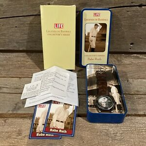 Babe Ruth Life Legends of Baseball Collector's Series Watch Wrist New Yankees