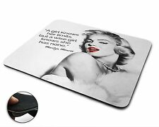 Marilyn Monroe Quote Premium Quality Flexible Rubber Mouse Mat / Mouse Pad