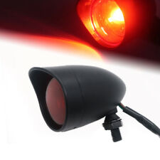 Motorcycle Black Bullet Rear Stop Tail Brake Light Cafe Racer Bobber Chopper