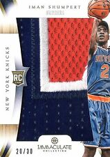 Iman Shumpert 2012-13 Panini Immaculate Team Numbers 3-Color Patch 20/30 RC Mint