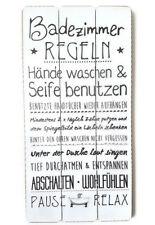 WANDSCHILD SCHILD  PLANKENSCHILD BADEZIMMER REGELN CA. 60 x 30 CM SPRUCH BILD 18