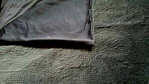 Tahari Luxury Quilted Velvet Dark Gray King Duvet & 2 Shams