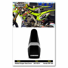 2013-2016 HONDA CRF 450 Seat Cover Black TLD RIBBED  BY Enjoy MFG  Crf 450R