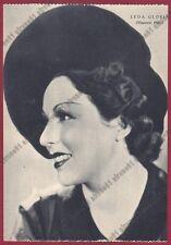 LEDA GLORIA 06 ATTRICE ACTRESS CINEMA MUTO SILENT MOVIE Cartolina NON FOTOG 1938
