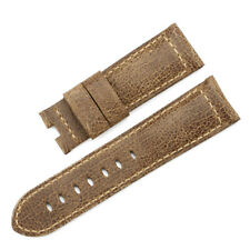 24mm Vintage Calf Leahter Watch Band Military Asso Strap Wristband for Panerai
