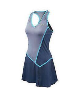 NIKE MARIA SHARAPOVA RIVAL KNIT TENNIS DRESS DUSK BLUE XLT NWT RARE 425961-421